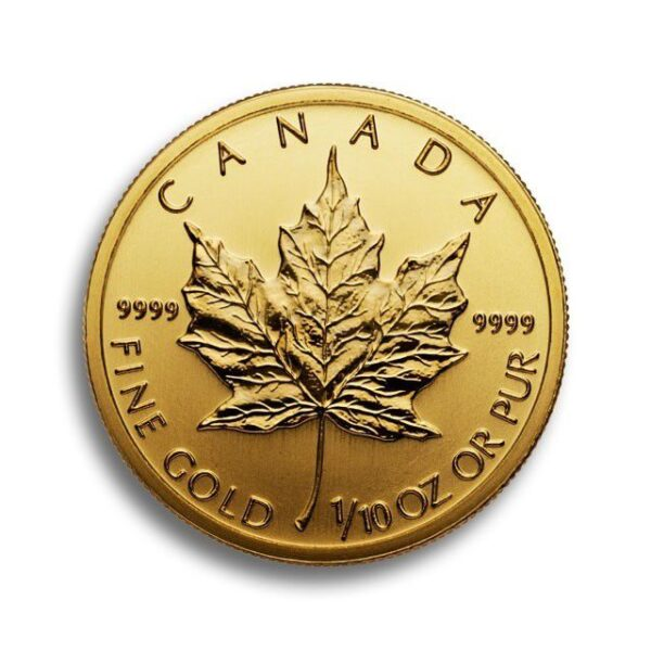 Gold Canadian Maple 1/10 Oz