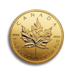 Gold Canadian Maple Leaf 1/2 Oz